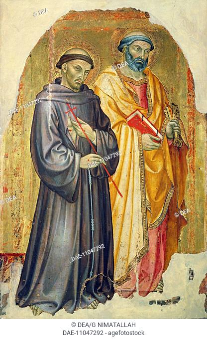 St Francis and St Peter, by Taddeo di Bartolo (ca 1363-1422).  Pisa, Museo Nazionale Di San Matteo (Art Museum)
