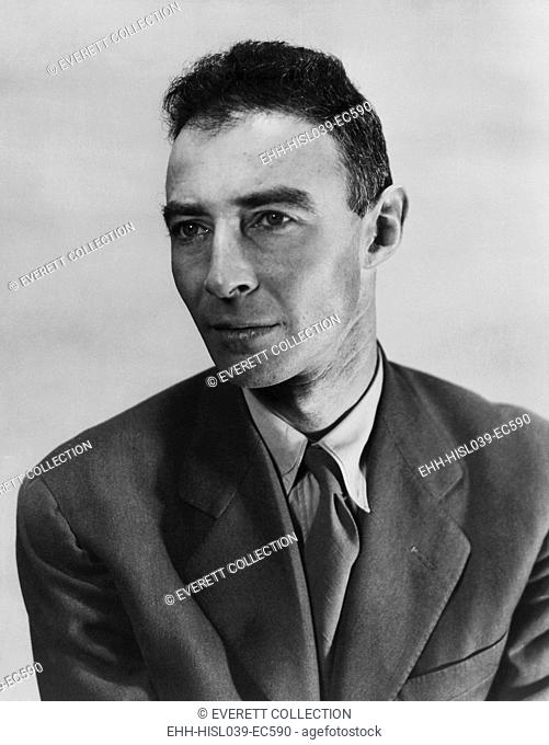 Robert Oppenheimer, atomic physicist and head the Manhattan project's secret weapons laboratory. Ca. 1940-45 - (BSLOC-2015-1-88)