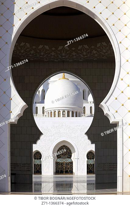 United Arab Emirates, Abu Dhabi, Sheikh Zayed bin Sultan al-Nahyan Mosque