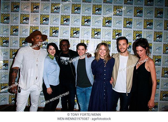 San Diego Comic Con 2017 - 'Supergirl' - Photocall Featuring: Mehad Brooks, Katie McGrath, David Harewood, Jeremy Jordan, Melissa Benoist, Chris Wood