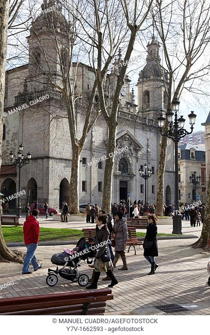 Church of San Nicolas in the Old Quarter of Bilbao