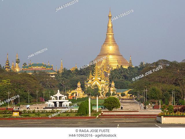 Myanmar, Burma, Asia, Yangon, Rangoon, Shwedagon, Pagoda, religion, golden, landmark