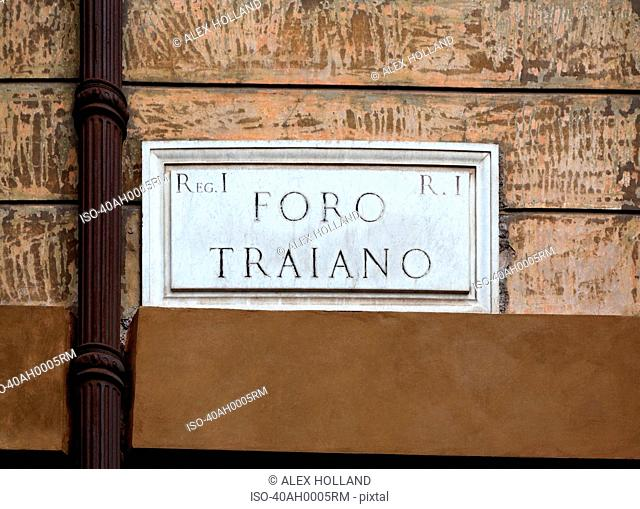 Sign reading foro romano