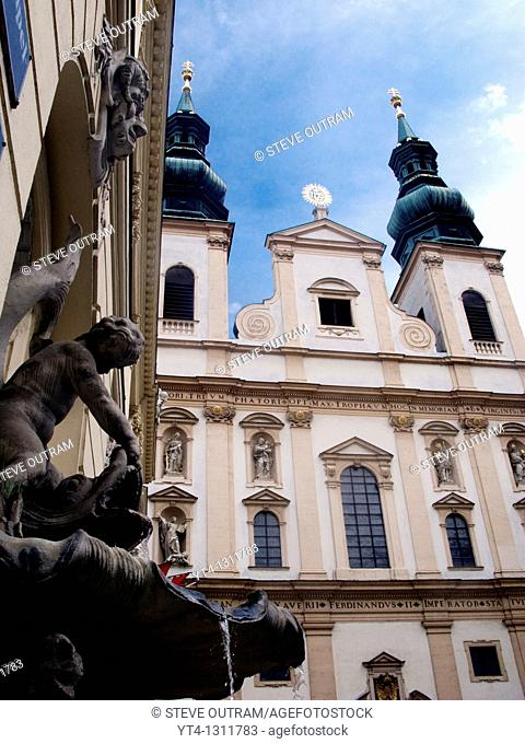 The 17thC Jesuit Church, Vienna, Austria  Also known as the Church of the Franciscan Order