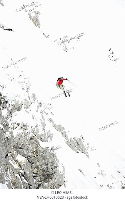 freeriding, skiing, Krippenstein