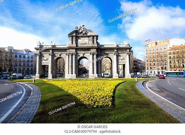Alcala Gate, Independence Square, Madrid, Spain, Western Europe