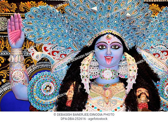Goddess kali festival, kolkata, west bengal, india, asia