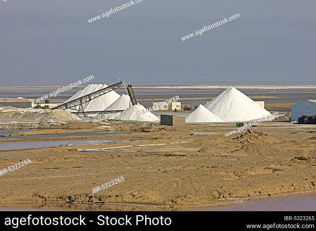 Salt flats near Walvis Bay in Namibia