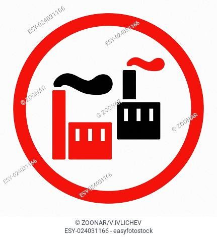 Industry flat intensive red and black colors rounded glyph icon