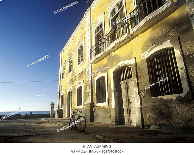 Old ruined colonial building on the seafront of Ilha de Mocambique, Mozambique
