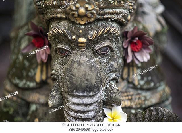 Hindu Gog Ganesha sculpt in stone, Ubud, Bali, Indonesia