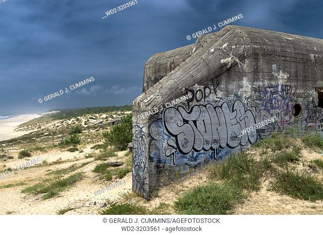 The Atlantic Wall, ww2 Germain defence Bunkers, French Coastline