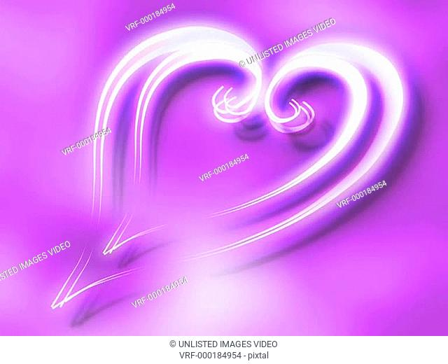 Purple Glowing Heart