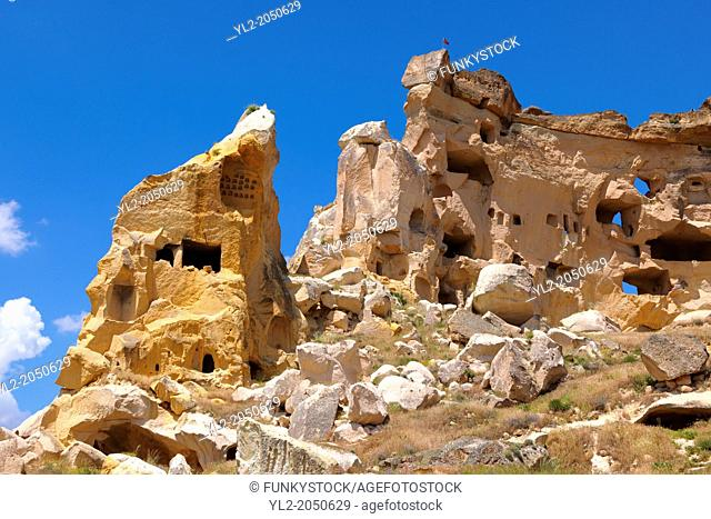 Rock Houses of Cauvsin, Cappadocia Turkey