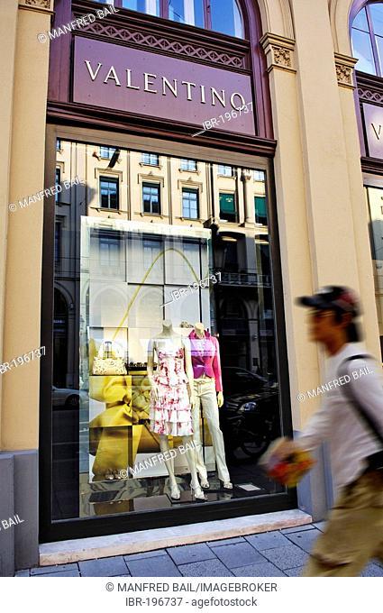 Shop window Valentino store, Maximilianstrasse, Munich, Bavaria, Germany