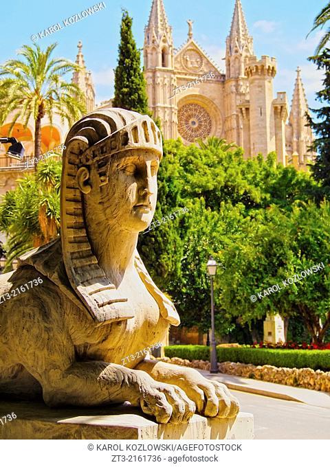 Sphinx in Palma de Mallorca, Balearic Islands, Spain