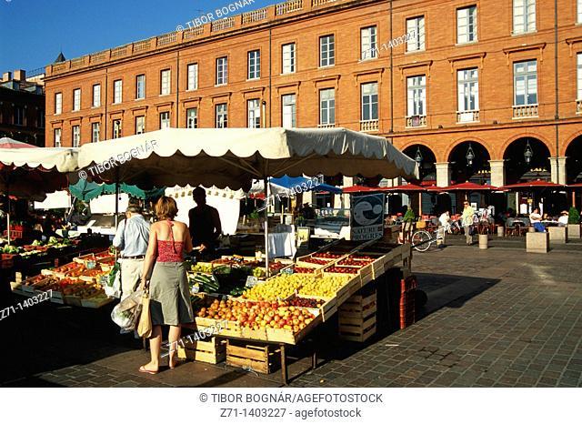 France, Languedoc, Toulouse, Place du Capitole