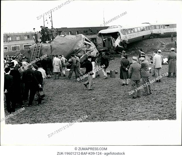 Dec. 12, 1960 - Seven dead and forty injured in Italian Rail Crash: Seven people are reported to have lost their lives and more than forty injured when two...