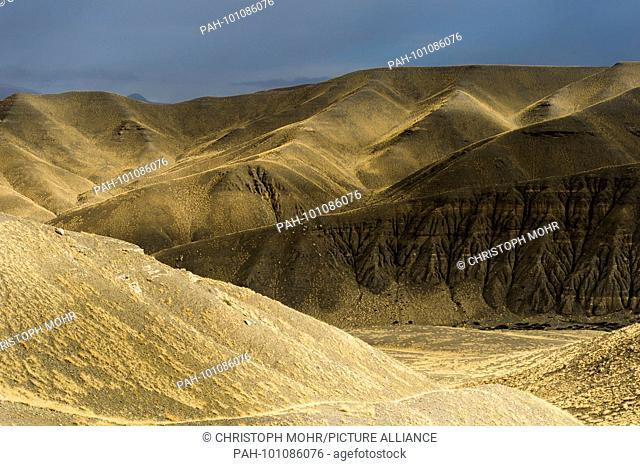 landscape around Dungkhar Caves May 2017 | usage worldwide. - /Tibet/China