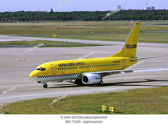 Hapag Lloyd Express airplane at Tegel airport, Berlin, Germany, Europe