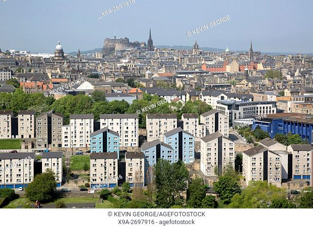 Cityscape View of Edinburgh; Scotland