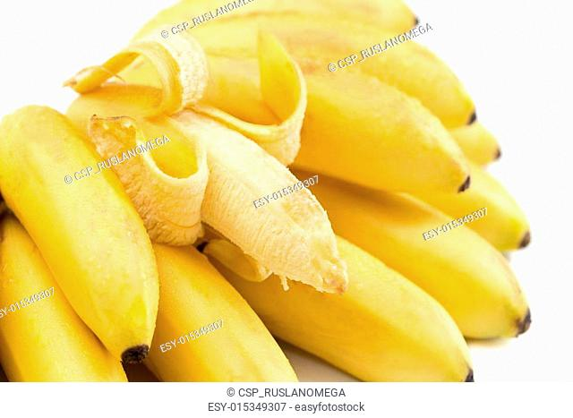 Bananas. Bunch isolated on white
