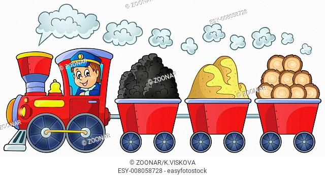 Train with various materials - picture illustration