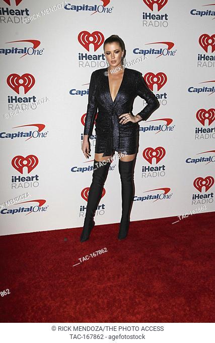 Model Ireland Baldwin arrives on the red carpet for the iHeartRadio Music Festival in Las Vegas, Nevada on September 21, 2018