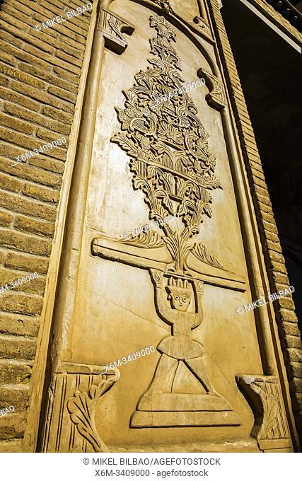 Decoration detail. Boroujerdi Historical House (Khan-e Boroujerdi). Kashan. Iran, Asia