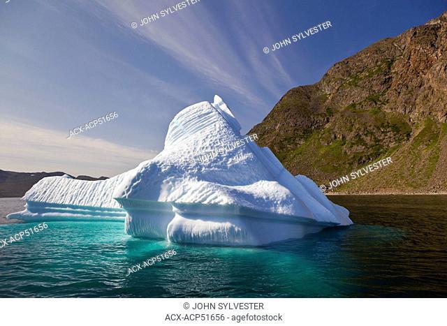 iceberg in Saglek Bay, Torngat Mountains, Labrador, Canada