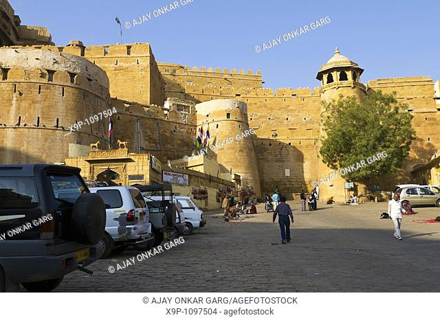 Entry to the Golden Fort, Jaisalmer, Rajasthan, India