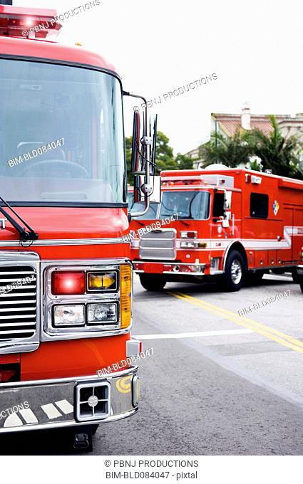 Emergency vehicles responding to emergency