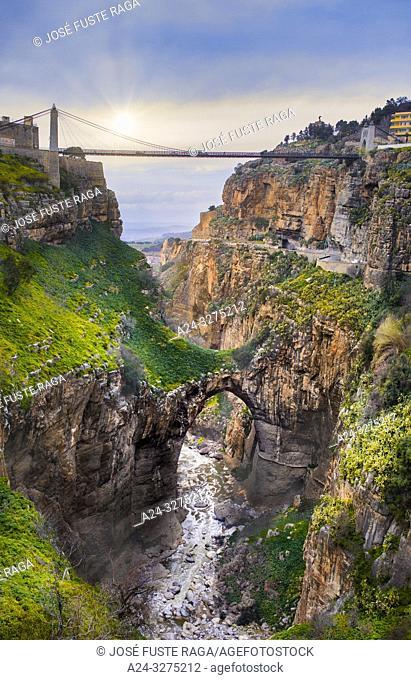 Algeria, Constantine City, Constantine Bridge, Sidi M'Cid