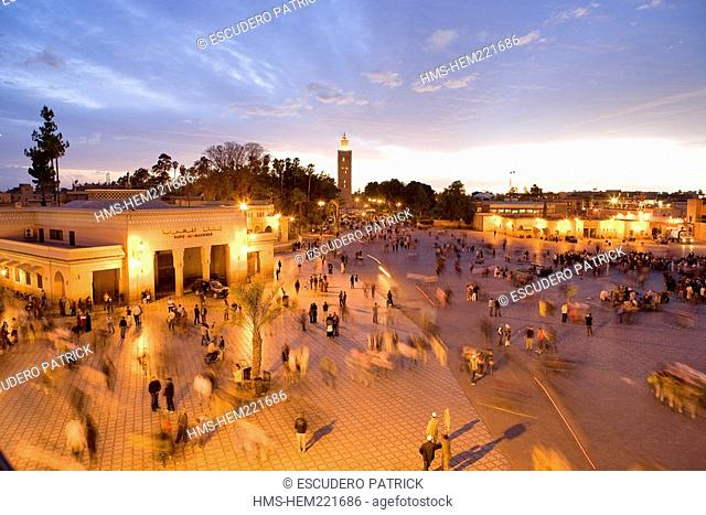 Morocco, Marrakesh, imperial city, medina listed as World Heritage by UNESCO, Jemaa El Fna Square