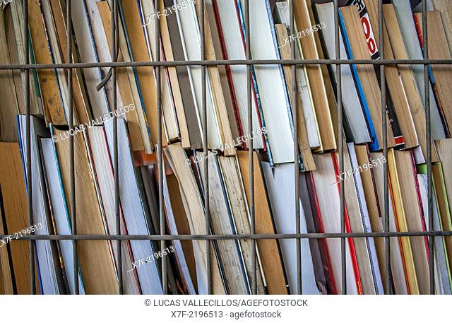 books storage to recycle, recycling center