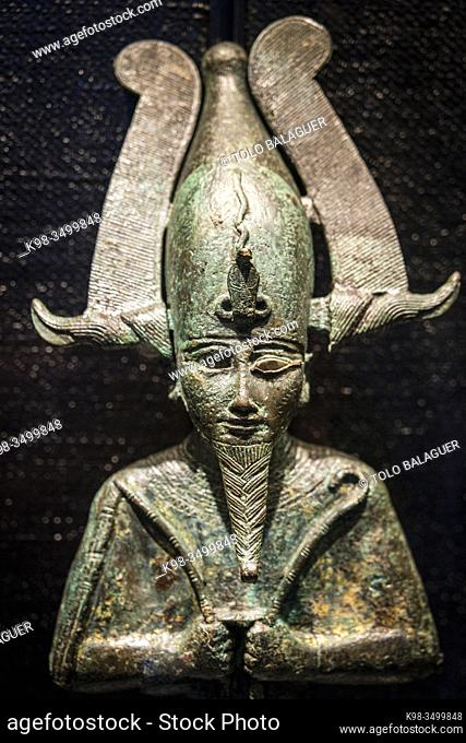 Osiris god , Gregorian Egyptian Museumn Musei Vaticani, State of the Vatican City, Roma, Lazio, Italia