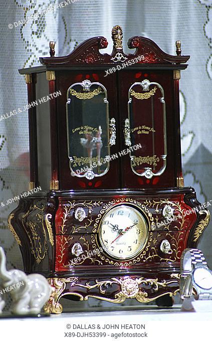 Romania, Transylvania, Sighisoara, Decorated Clock