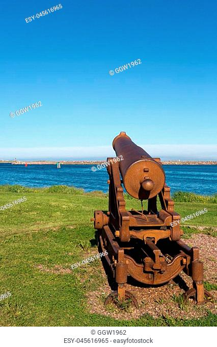 Historic cannon on the French island of Saint Pierre