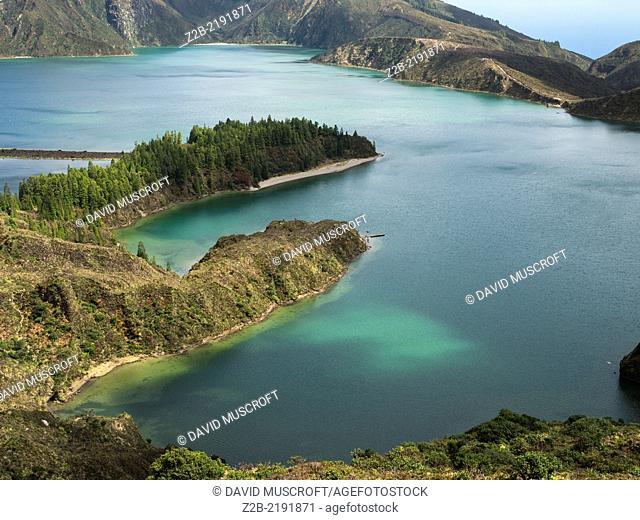 Lagoa do Fogo, a volcanic crater, São Miguel Island, Azores, Portugal