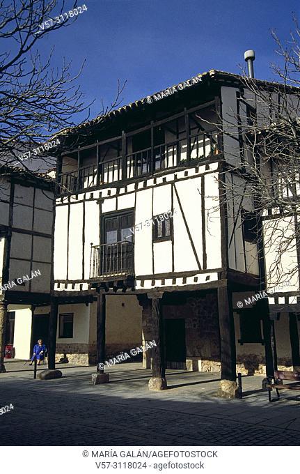Facade of Doña Sancha House. Covarrubias, Burgos province, Castilla Leon, Spain