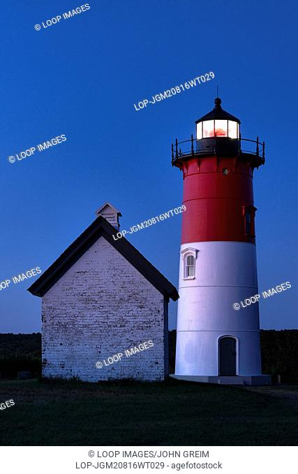 Nauset Lighthouse at night