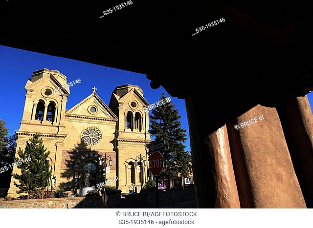 The Cathedral Basilica of St. Francis of Assisi. Santa Fe. New Mexico. USA
