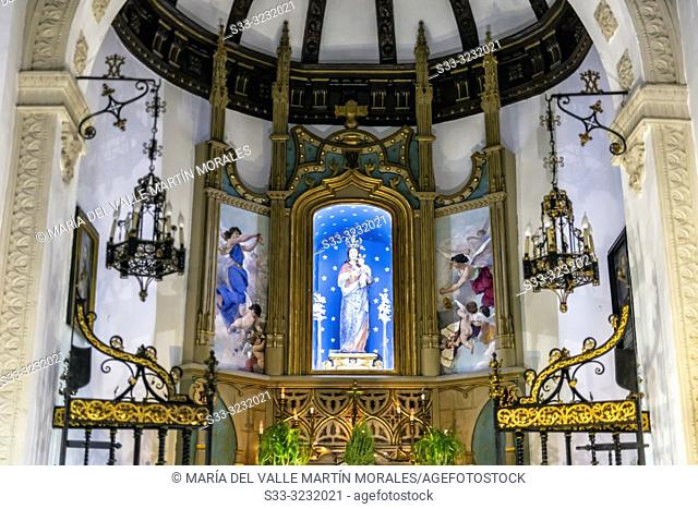 Our Lady of the Valley hermitage in Toledo on Christmas time. Spain. Europe