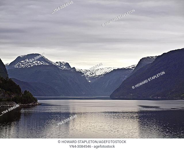 The Eid Fjord which is a branch of the larger Hardangerfjord in Norway