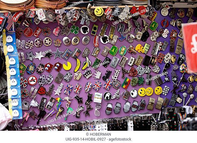 Belt Buckles, Camden Town Market Stall, London