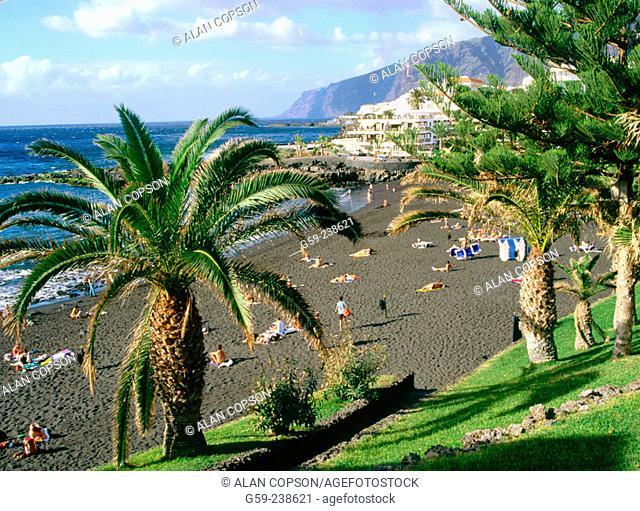 'Playa de la Arena'in Puerto de Santiago. Tenerife. Canary Islands. Spain