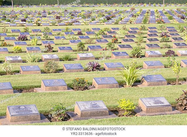 The War Cemetery, Kanchanaburi, Thailand