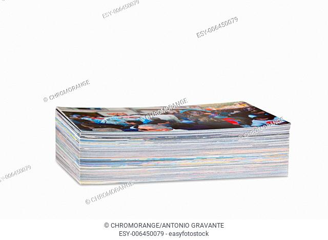 Pile of photos printed on photo paper