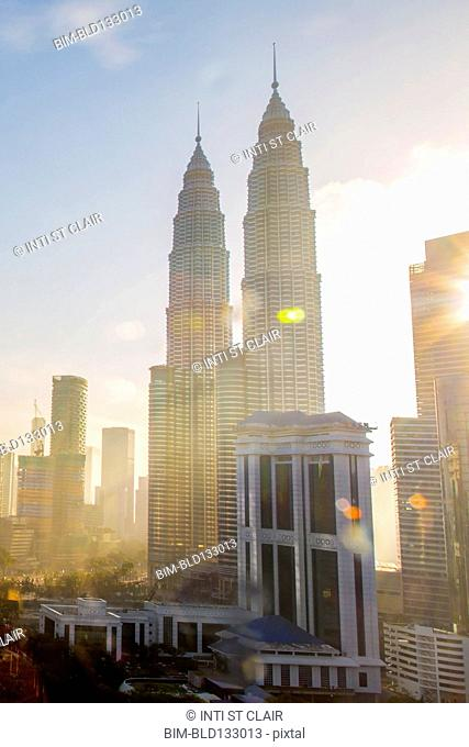 View of city skyline, Kuala Lumpur, Malaysia