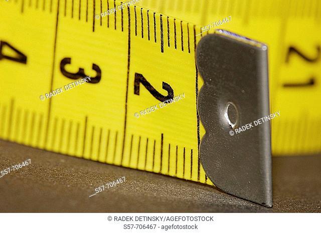 Soft plastic yellow measuring tape